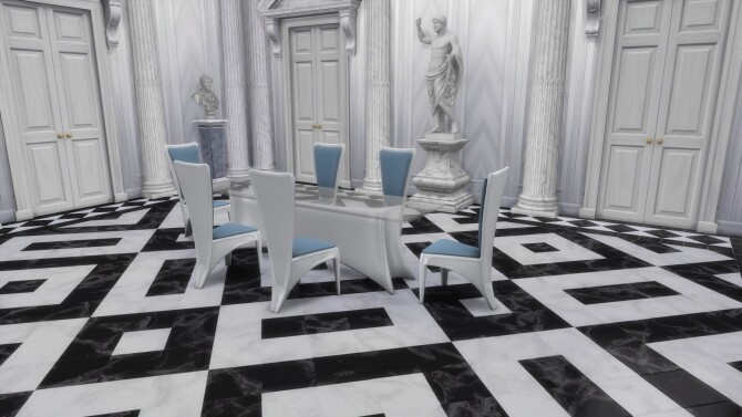 Sims 4 Luxury Dining Table 1x3 by TheJim07 at Mod The Sims