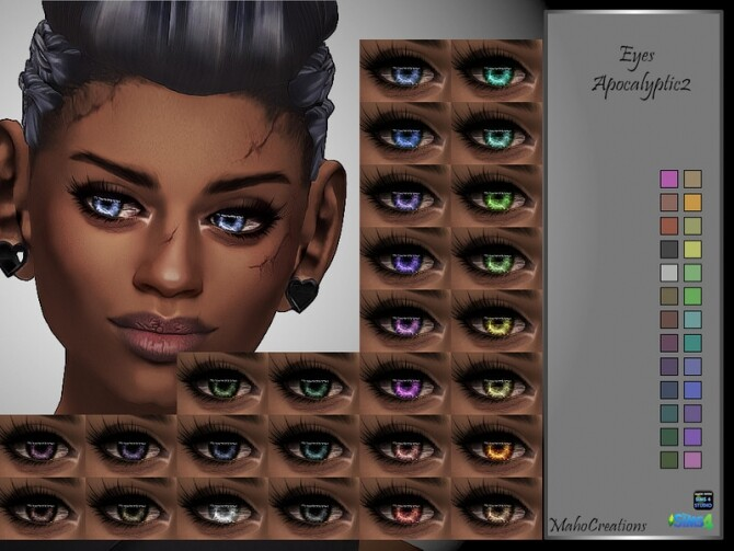 Sims 4 Eyes Apocalyptic 2 by MahoCreations at TSR