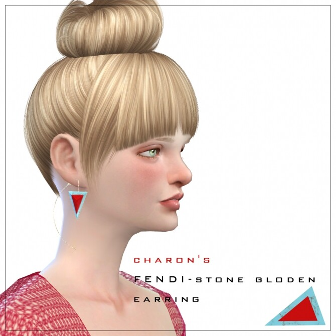 Sims 4 Stone Gloden Earrings at Charonlee