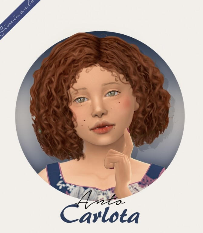 Sims 4 Anto Carlota Hair Kids Version at Simiracle