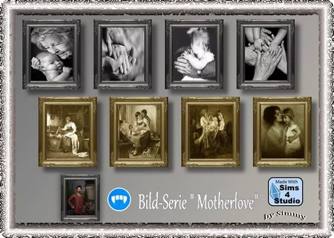 Sims 4 Motherlove paintings by Simmy at All 4 Sims