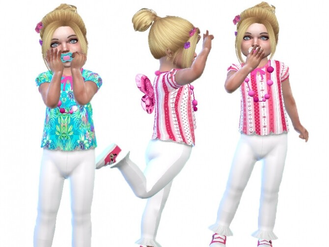 Sims 4 Wings toddler top by TrudieOpp at TSR