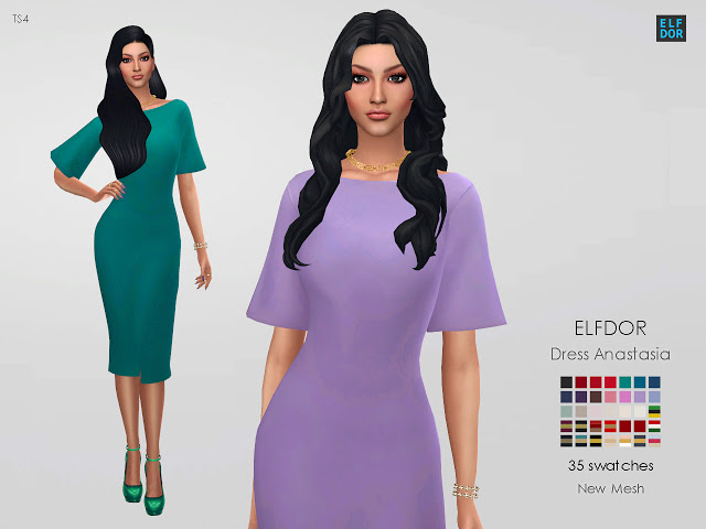 Dress Anastasia at Elfdor Sims image 111 Sims 4 Updates