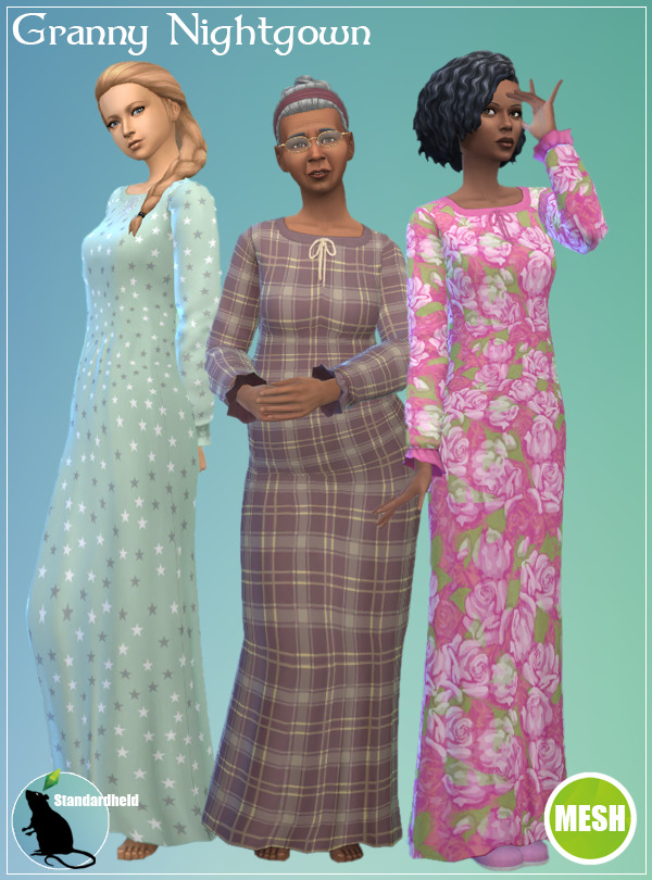 Sims 4 Granny Nightgown (Recolor) at Standardheld