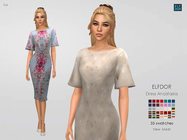 Dress Anastasia at Elfdor Sims image 112 Sims 4 Updates