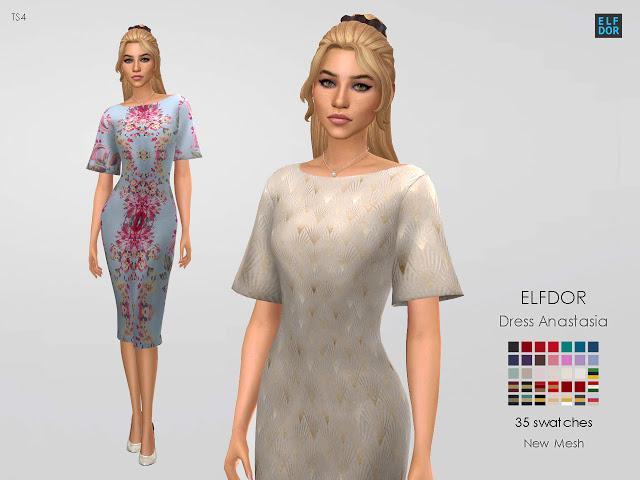Dress Anastasia at Elfdor Sims image 112 Sims 4 Updates