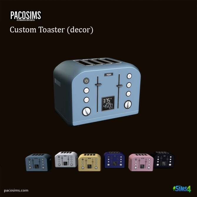 Sims 4 Costom Toaster Decor (P) at Paco Sims