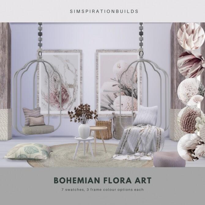 Sims 4 Bohemian Flora Art at Simspiration Builds