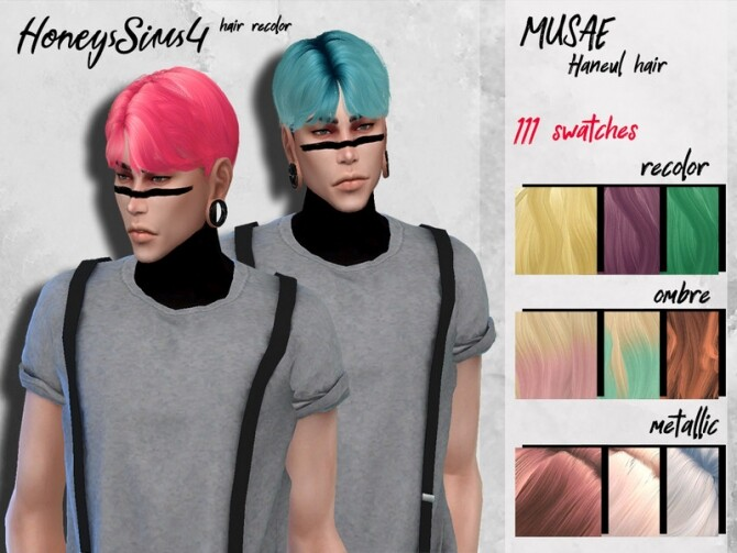 Male hair recolor Musae Haneul by HoneysSims4 at TSR image 1159 670x503 Sims 4 Updates