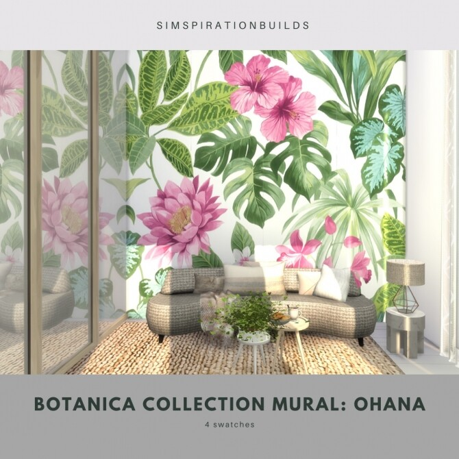 Botanica Collection Mural at Simspiration Builds image 11616 670x670 Sims 4 Updates