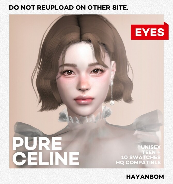 Sims 4 EYES PURE CELINE at Hayanbom