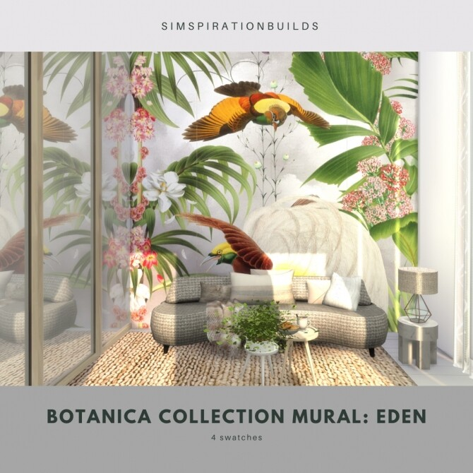 Botanica Collection Mural at Simspiration Builds image 11715 670x670 Sims 4 Updates