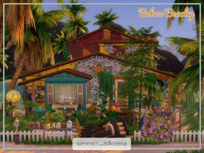 Sims 4 Bohoo Beachy home by simmer adelaina at TSR