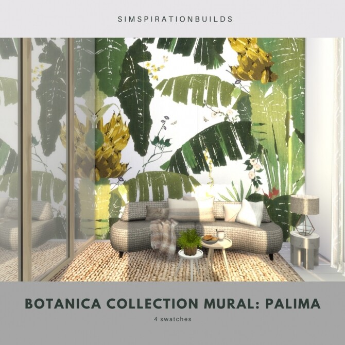 Botanica Collection Mural at Simspiration Builds image 11814 670x670 Sims 4 Updates