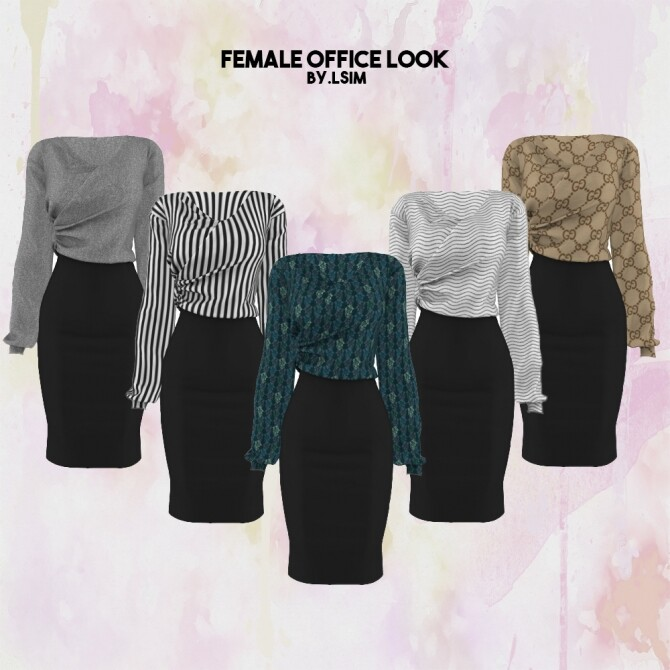 Sims 4 Office look outfit at L.Sim
