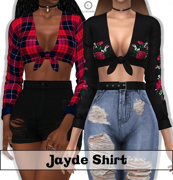 Sims 4 Jayde Shirt at Lumy Sims