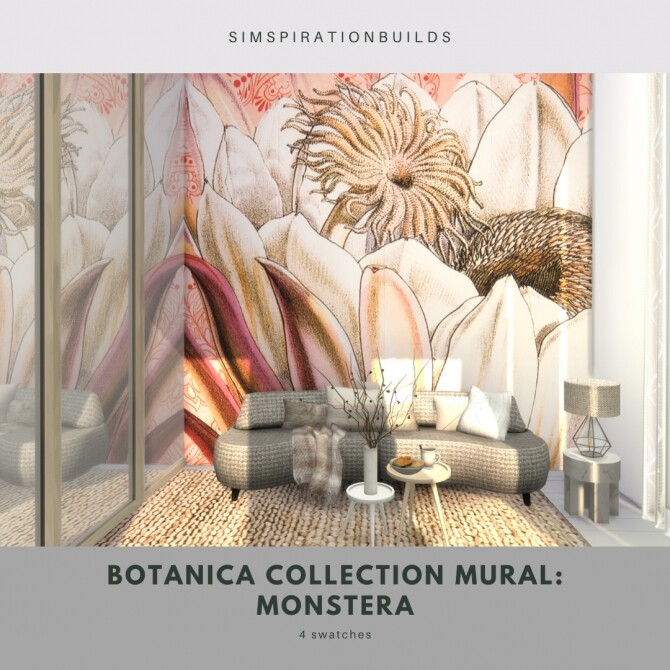 Botanica Collection Mural at Simspiration Builds image 11914 670x670 Sims 4 Updates