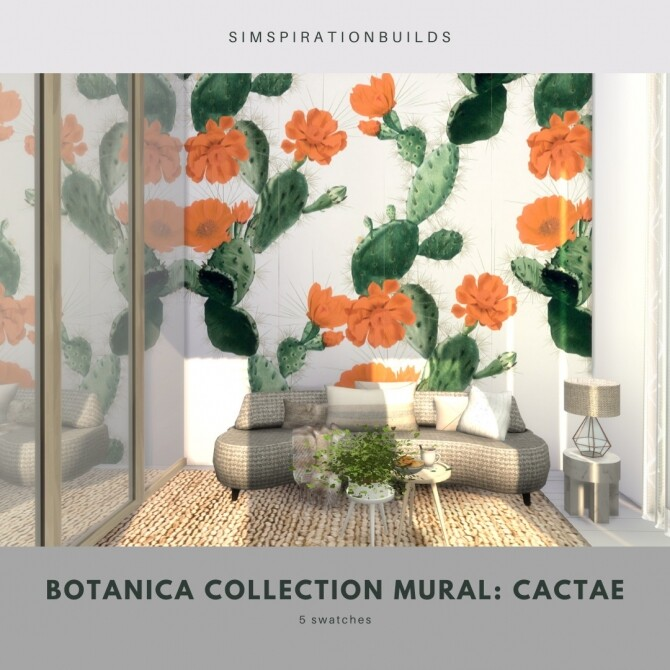Botanica Collection Mural at Simspiration Builds image 12014 670x670 Sims 4 Updates