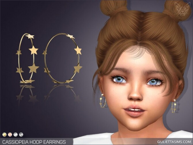 Sims 4 Cassiopeia Hoop Earrings For Toddlers at Giulietta