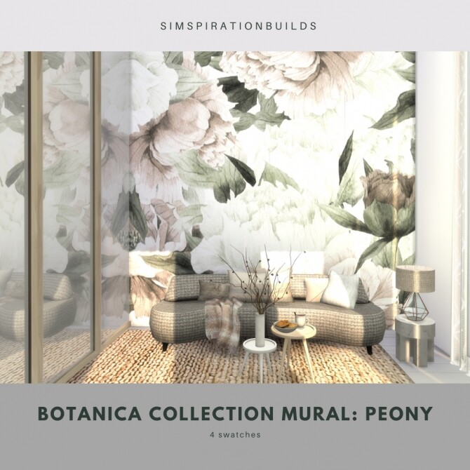 Botanica Collection Mural at Simspiration Builds image 12119 670x670 Sims 4 Updates