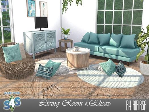 Sims 4 Elisa livingroom at Aifirsa