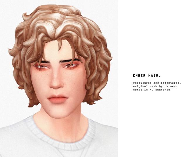 Sims 4 Ember hair at Seven Sims
