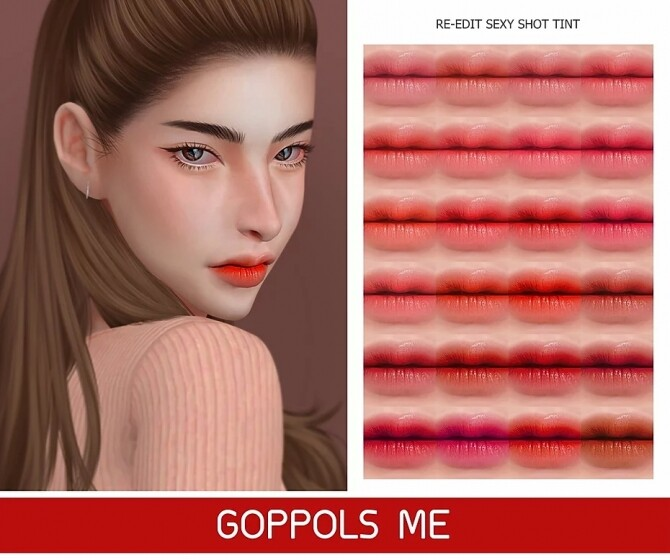 Sims 4 GPME GOLD Re Edit Shot tint lipstick at GOPPOLS Me