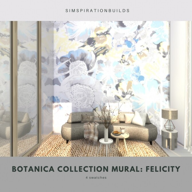 Botanica Collection Mural at Simspiration Builds image 12216 670x670 Sims 4 Updates