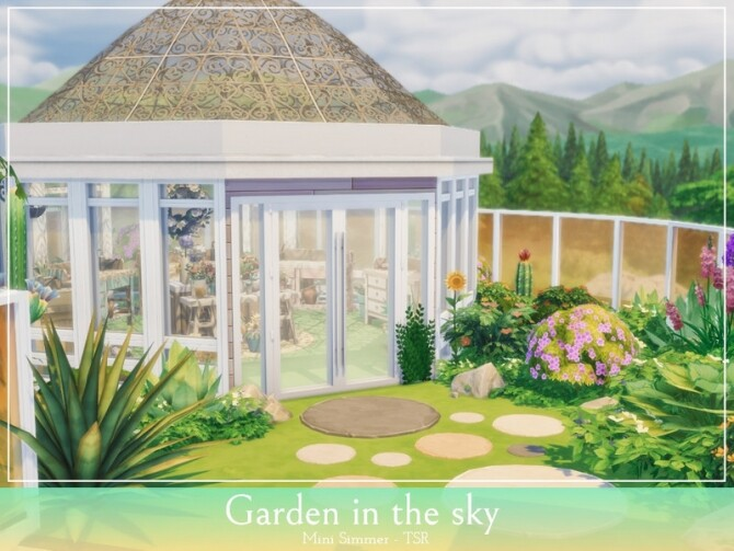 Garden in the sky by Mini Simmer at TSR image 1228 670x503 Sims 4 Updates