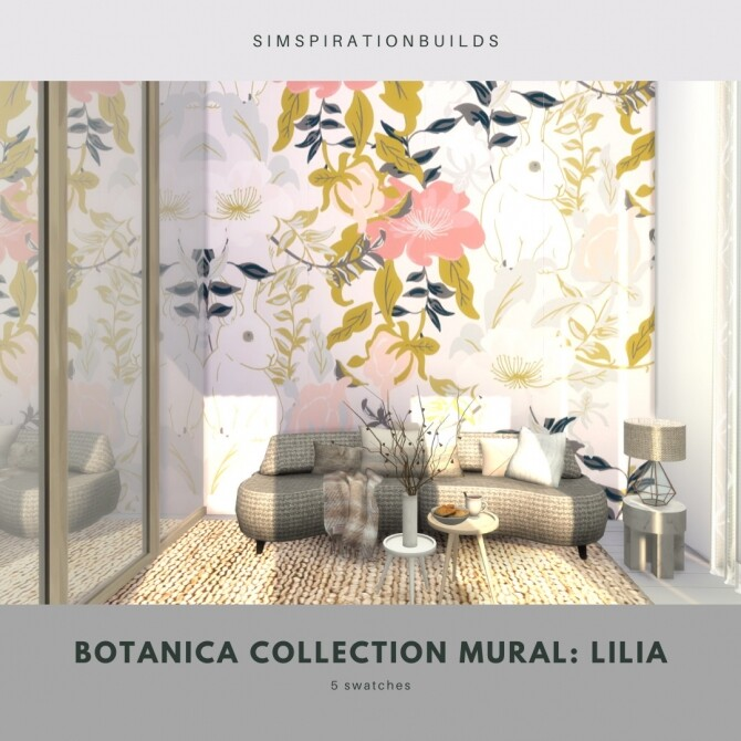 Botanica Collection Mural at Simspiration Builds image 12316 670x670 Sims 4 Updates