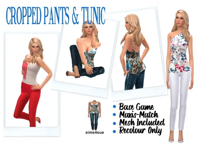 CROPPED PANTS & TUNIC at Sims4Sue image 12319 670x503 Sims 4 Updates