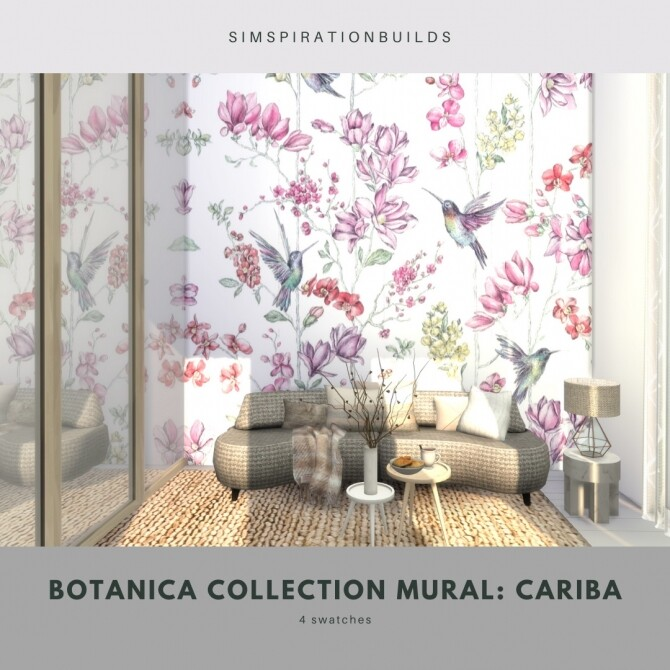Botanica Collection Mural at Simspiration Builds image 12416 670x670 Sims 4 Updates