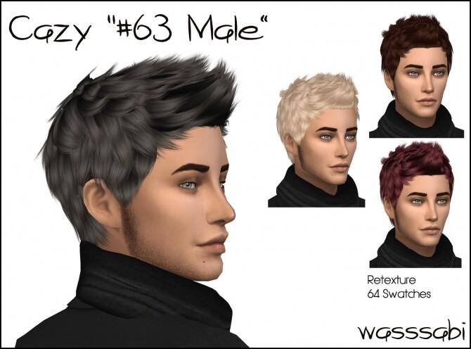 Sims 4 Cazys Hair #63 retextured at Wasssabi Sims