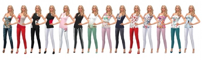 CROPPED PANTS & TUNIC at Sims4Sue image 12419 670x199 Sims 4 Updates