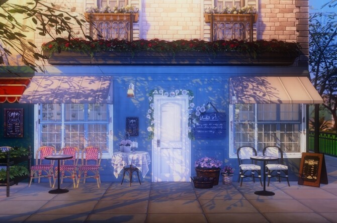 Sims 4 French cafe / bistro mini set by Pocci at Garden Breeze Sims 4
