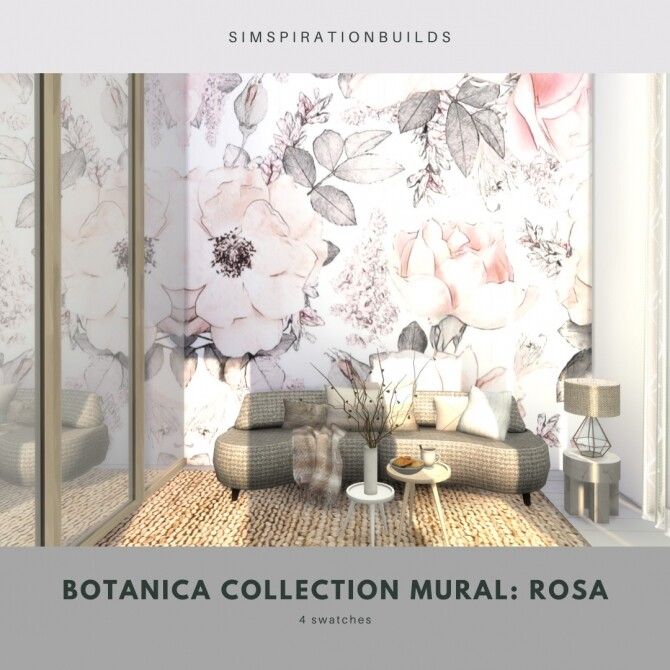 Botanica Collection Mural at Simspiration Builds image 12514 670x670 Sims 4 Updates