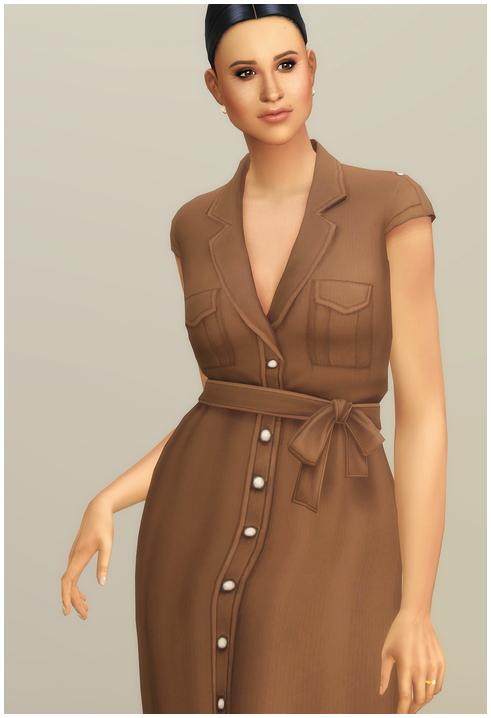 Sims 4 Duchess of Dress IV at Rusty Nail