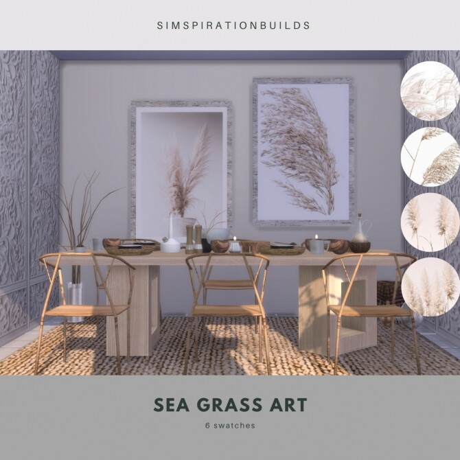 Sims 4 Sea Grass Art at Simspiration Builds