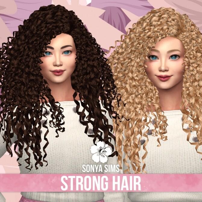 Strong Hair CC03 at Sonya Sims image 1263 670x670 Sims 4 Updates