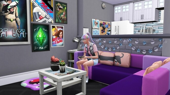 Sims 4 CUTE GEEKY TEEN APARTMENT at Aveline Sims