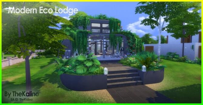Sims 4 Modern Eco Lodge at Kalino