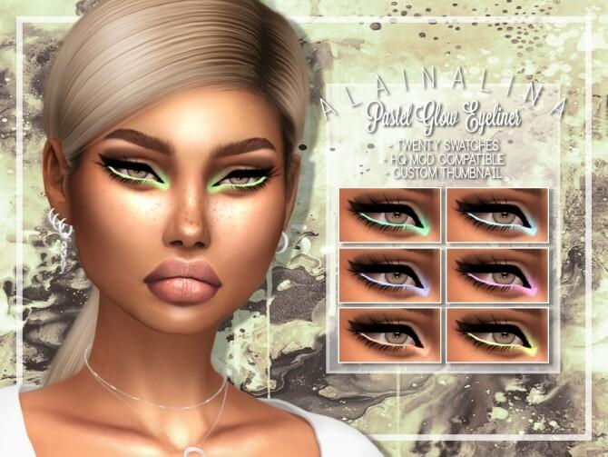 Sims 4 Pastel Glow Eyeliner at AlainaLina