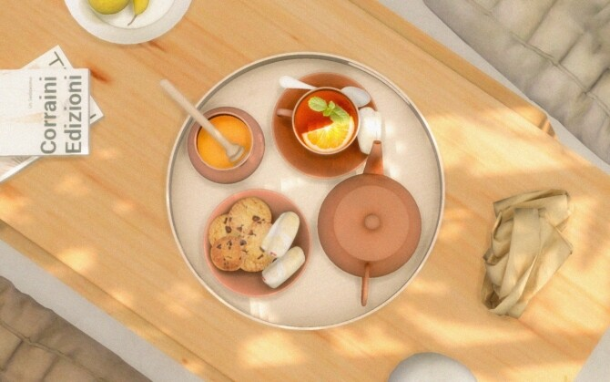 Tray, Teapot, Honey, Coffee & Cookies at Sims4Nicole image 1283 670x419 Sims 4 Updates