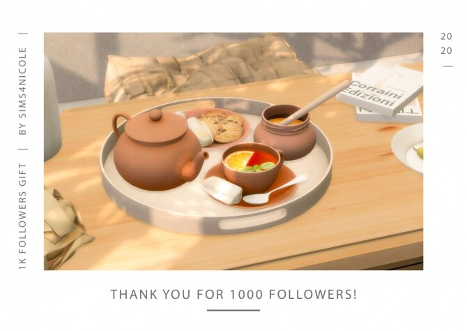 Tray, Teapot, Honey, Coffee & Cookies at Sims4Nicole image 1292 670x474 Sims 4 Updates