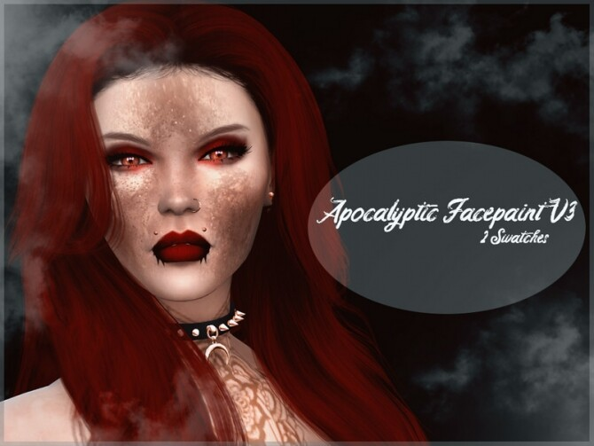 Sims 4 Apocalyptic Facepaint V3 by Reevaly at TSR