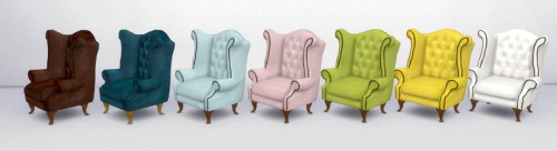 Chesterfield Wingback Chair and Sofa by Pocci at Garden Breeze Sims 4 image 130 Sims 4 Updates