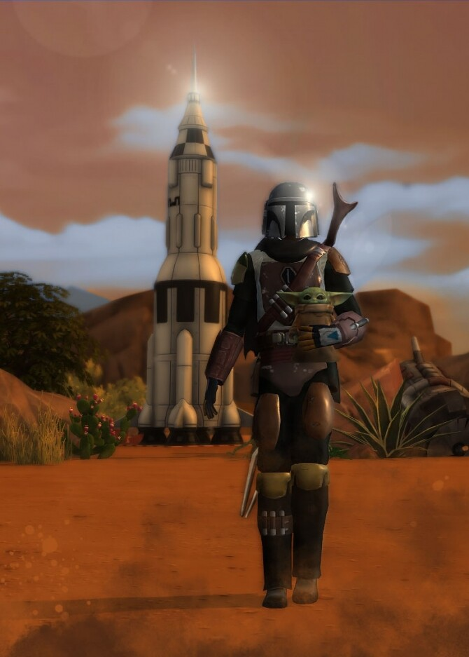 The Mandalorian outfit + helmet by Delise at Sims Artists image 1303 670x937 Sims 4 Updates