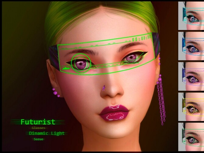 Futurist Glasses Apocalypse by Suzue at TSR image 1305 670x503 Sims 4 Updates