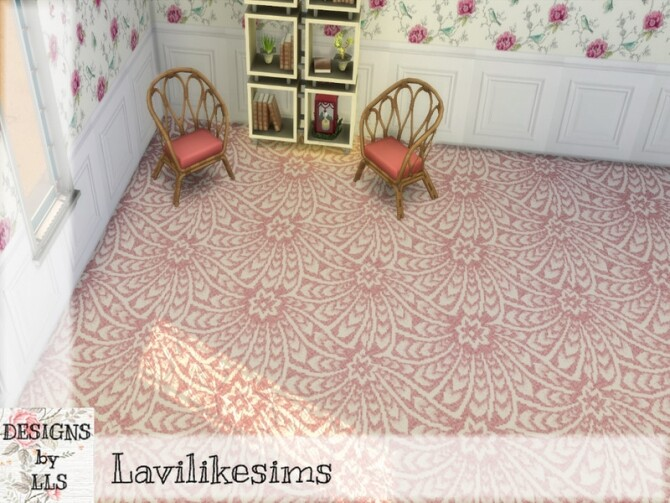 Sims 4 Flower Fan Carpet by lavilikesims at TSR