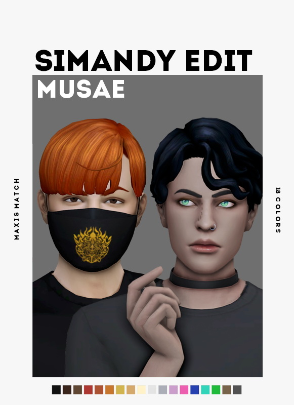 Sims 4 Simandys hair edits at EFFIE